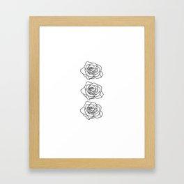 Rose Noire Framed Art Print