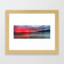 Kihei Sunset Framed Art Print
