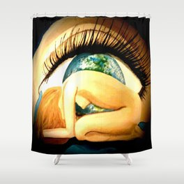 earths eye Shower Curtain