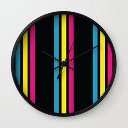 Stripes on Black Wall Clock