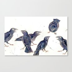 Gossip of the Crows Canvas Print