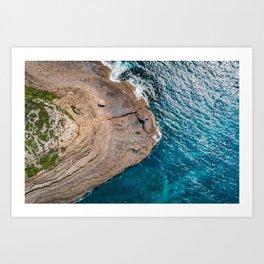 Clear Coastal Waters of the South Coast Art Print