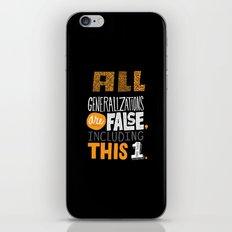 All Generalizations iPhone & iPod Skin