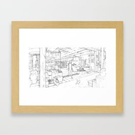 Little Cat's Journey Framed Art Print