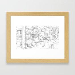 Little Cat's Journey Framed Art Print