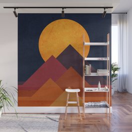 Full moon and pyramid Wall Mural
