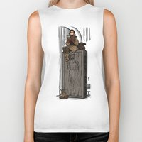 hallion Biker Tanks featuring ....to find a way out! by Karen Hallion Illustrations