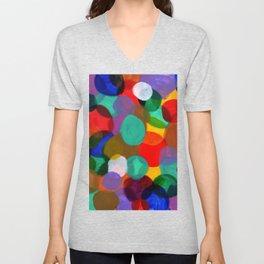 Colorful Circle Smash Unisex V-Neck