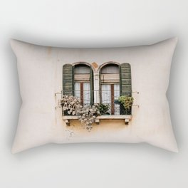 Window on House Wall in Spain Rectangular Pillow
