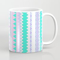 kris tate Mugs featuring TWIN SHADOW by Vasare Nar and Kris Tate by Vasare Nar
