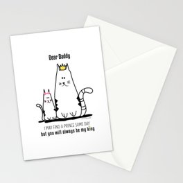 Fathers Day Girls Love Stationery Cards