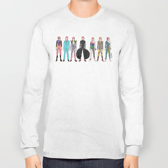 7 Red Heroes Heads Long Sleeve T-shirt