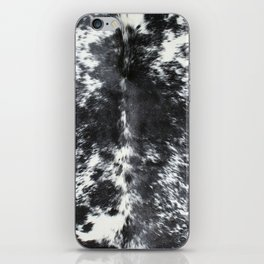 Black and white cowhide iPhone Skin