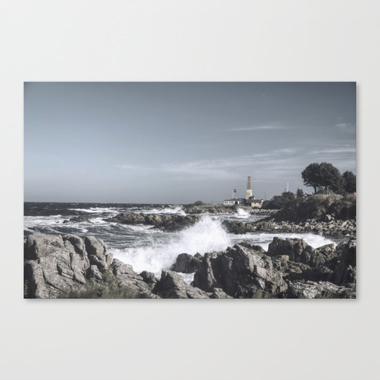 The wild sea- Wild waves o stormy day Canvas Print