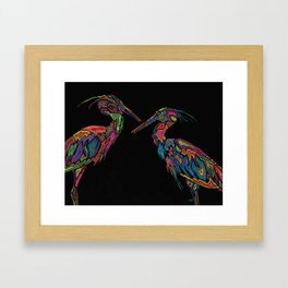 Blue Herons Framed Art Print