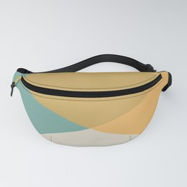 Mid Century - Yellow and Blue Fanny Pack
