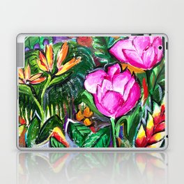 Etude with Tropical Flowers Laptop & iPad Skin