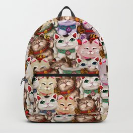 Maneki-neko cats pattern Backpack