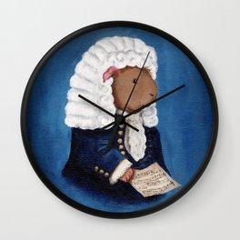 Johann Sebastian Bach the Guinea Pig Wall Clock