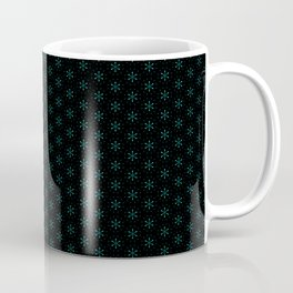 small star shapes pattern on the deep background Coffee Mug