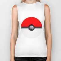 pokeball Biker Tanks featuring Pokeball by Studio Momo╰༼ ಠ益ಠ ༽