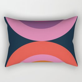 Cya Later - retro minimalist 70s colorful abstract art 1970's vintage style vibes Rectangular Pillow