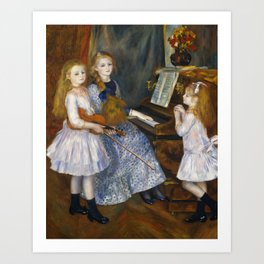 Auguste Renoir  -  The Daughters Of Catulle Mendes  Huguette  Claudine And Helyonne Art Print