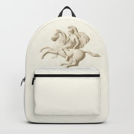 Alexander the Great on his horse Bucephalus or Bucephalas Backpack