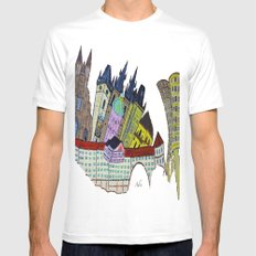 GOLDEN PRAGUE White SMALL Mens Fitted Tee