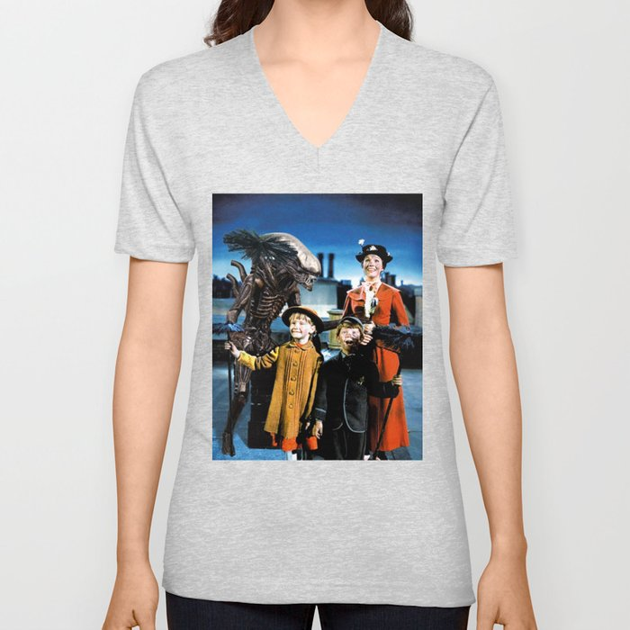 Alien in Mary Poppins Unisex V-Neck