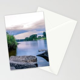 Long Exposure Photo of The River Tay in Perth Scotland Stationery Cards