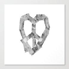 Peace Heart Canvas Print
