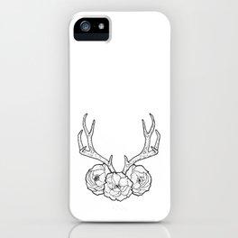 Deer vs Flowers iPhone Case
