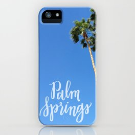 Palm Springs Palm Trees Calligraphy iPhone Case