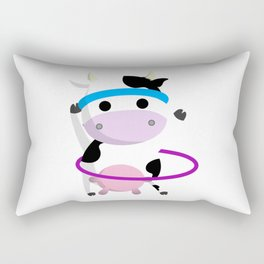 TeeTee - The Aerobic Cow #01 Rectangular Pillow