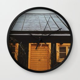 Little cottage, Visby, Island of Gotland, Sweden Wall Clock