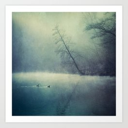 weeping light - river in morning fog Art Print