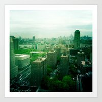 brooklyn Art Prints featuring Brooklyn by Claire Beaufort