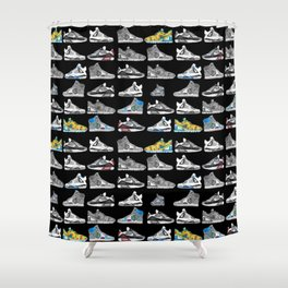 Seek the Sneakers Shower Curtain