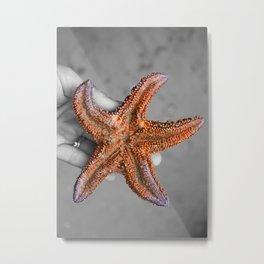 Starfish Colorgram Metal Print