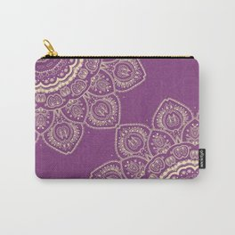Tulips Mandala in Radiant Orchid Color Carry-All Pouch