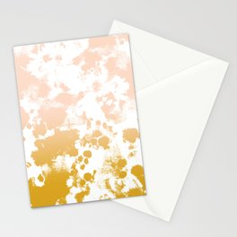 Essie - abstract minimal gold painting metallics home decor minimalist hipster Stationery Cards