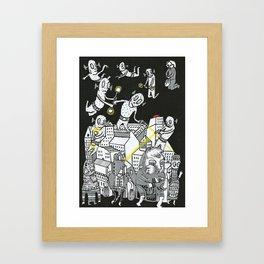 Paper Town 12  Framed Art Print