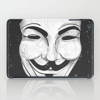 anonymous iPad Cases featuring Anonymous by nicole carmagnini