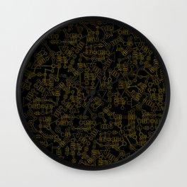 Mecanic Pattern Wall Clock