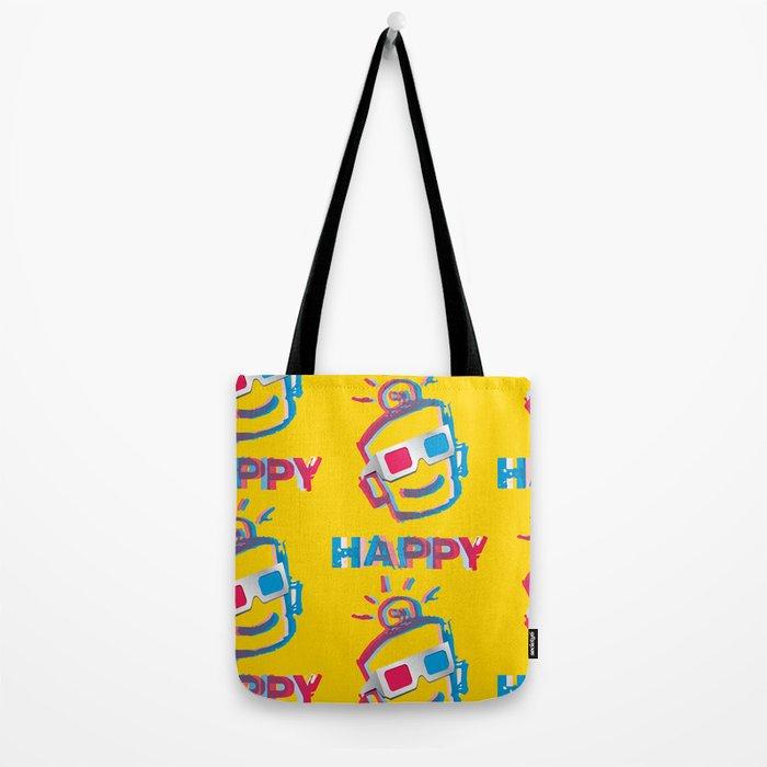 3D HAPPY Tote Bag