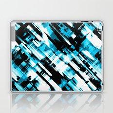 Hot blue and black digital art G253 Laptop & iPad Skin