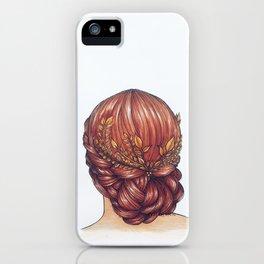 Golden Hair. iPhone Case