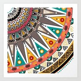 #Ethnic #tribal ornament Art Print