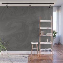 Pantone Pewter Gray Abstract Fluid Art Swirl Pattern Wall Mural